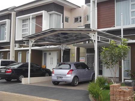 Bentuk Atap Carport Canopy Rumah Minimalis