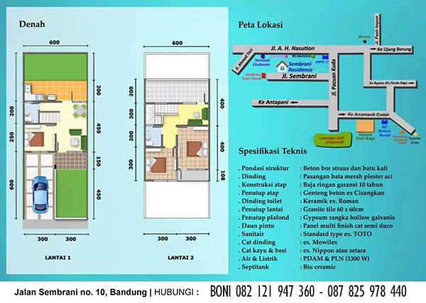 Spesifikasi Perumahan Sembrani Residence Arcamanik Bandung Timur