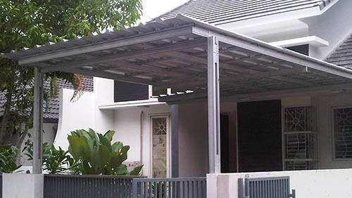 Kanopi Zincalume Rumah Minimalis Bandung