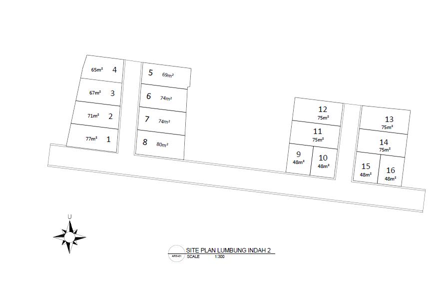Siteplan Rumah Cluster Lumbung Indah Jatinanggor