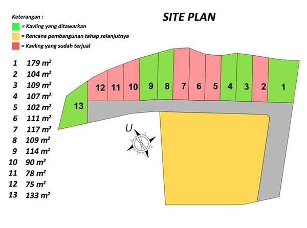 Siteplan Perumahan Sembrani Residence Arcamanik Bandung Timur