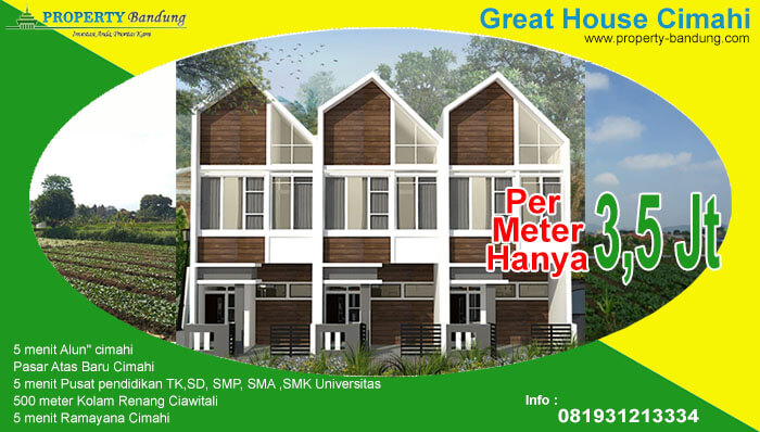 Dijual Rumah Milenial Great House Cimahi