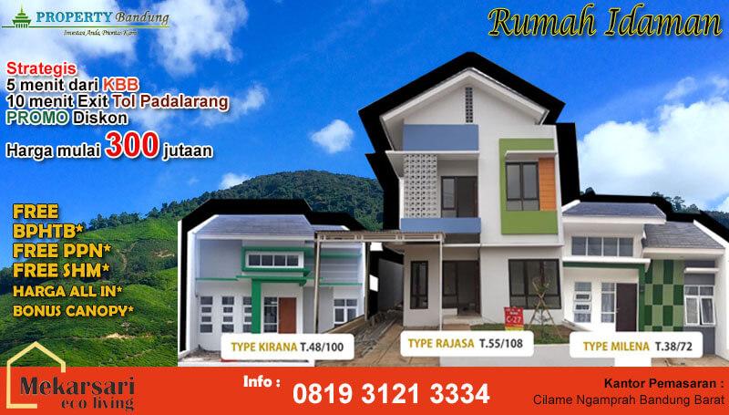 Mekarsari Ecoliving Rumah Murah Dekat Kantor Bupati Bandung Barat