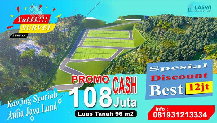 Kavling Aulia Laswi City View dengan Pemandangan Kota Bandung di Bandung Selatan
